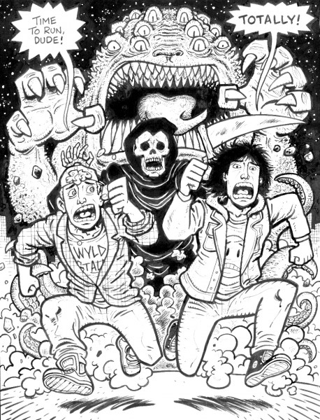Bill & Ted Heroes pinup