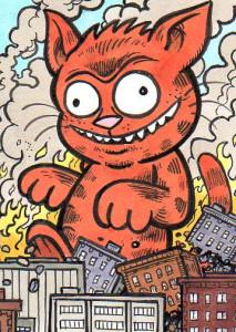 Bad Cat sketchcard