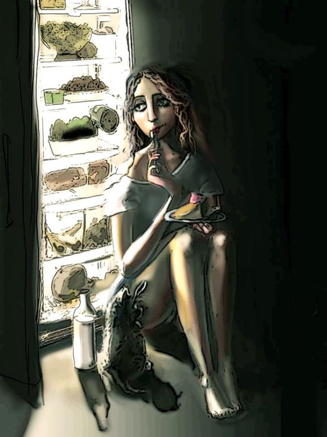 ева с ночным тортом