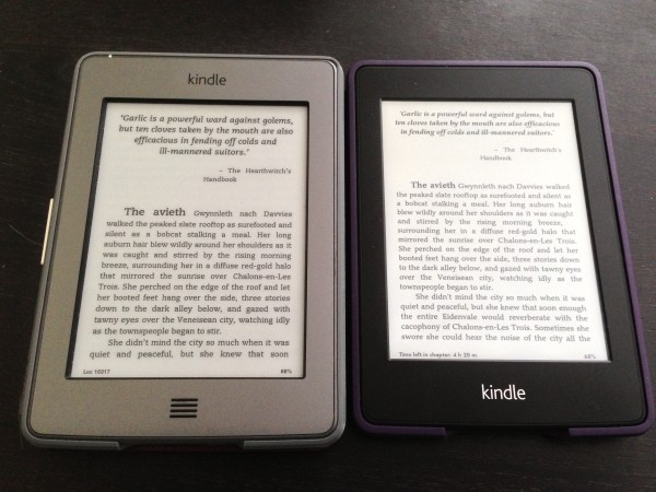 Kindle Touch vs Kindle Paperwhite