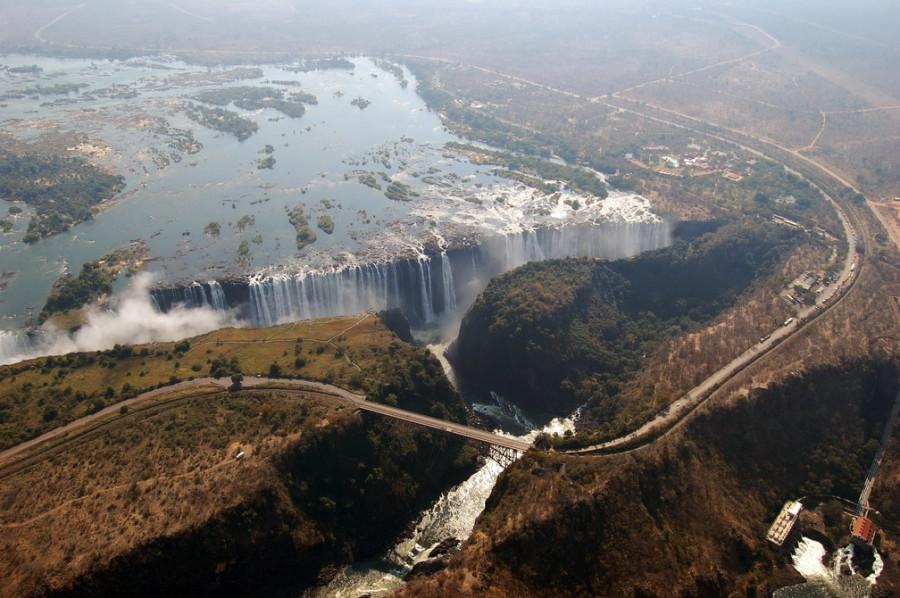 Водопад Виктория от жжшника, который живет в Африке