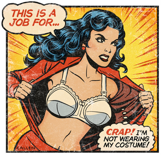Hairy-Superwoman-artworks-design-Threadless-comics