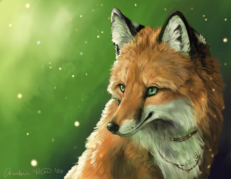 картинки лисы с зелеными глазами находится
