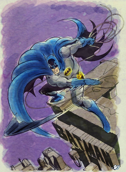 Batman - García Lopez - watercolor 1