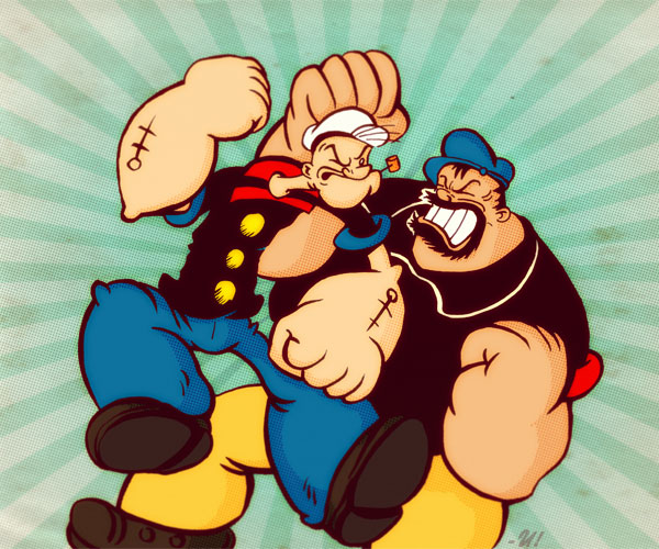 Popeye and Bluto