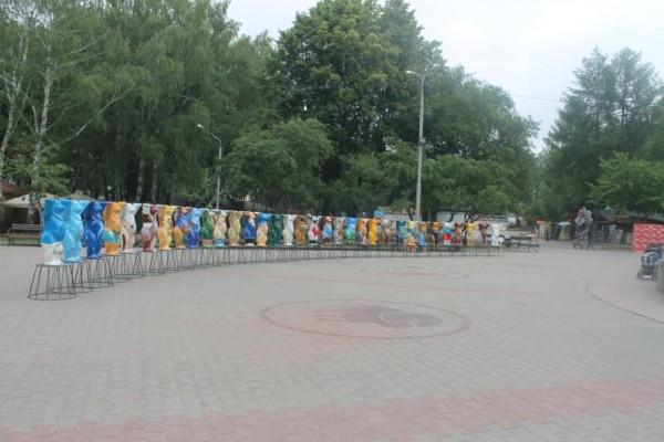 Так выглядела выставка берлинских мишек