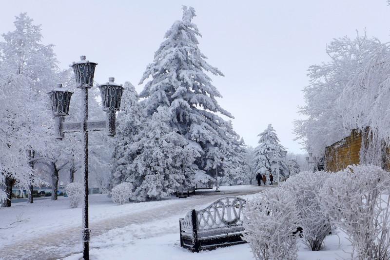 Городская зима