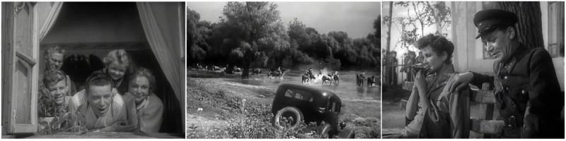 """Кадры из кинофильма """"Безсмертный гарнизон"""", 1956г."""