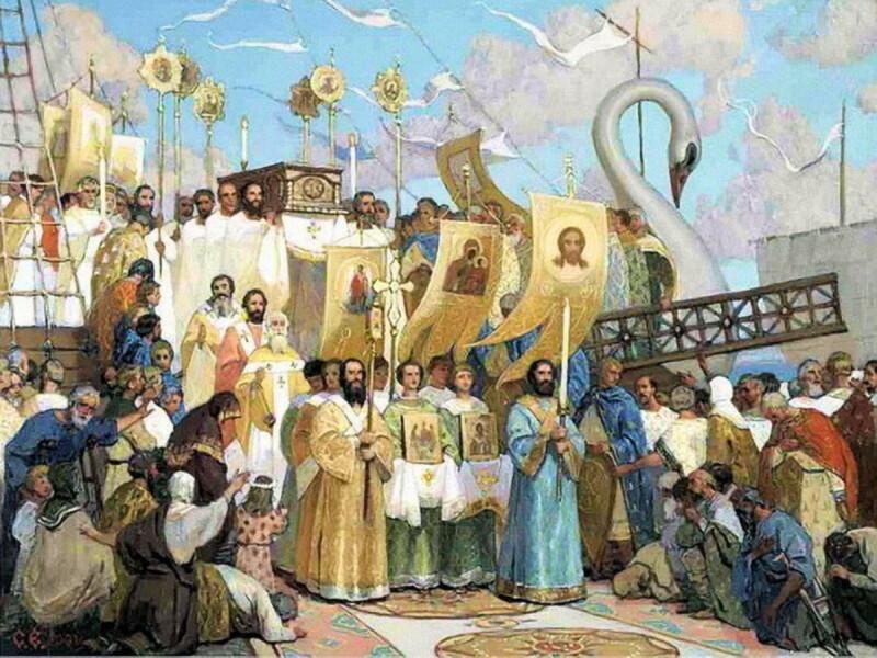 Сретение святых мощей святителя Николая в Бар-граде, худ. Сергей Ефошкин