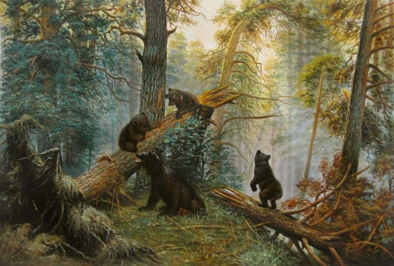 И. И. Шишкин «Утро в сосновом лесу», 1889