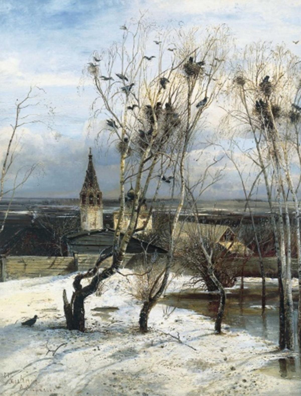 А. К. Саврасов «Грачи прилетели», 1871