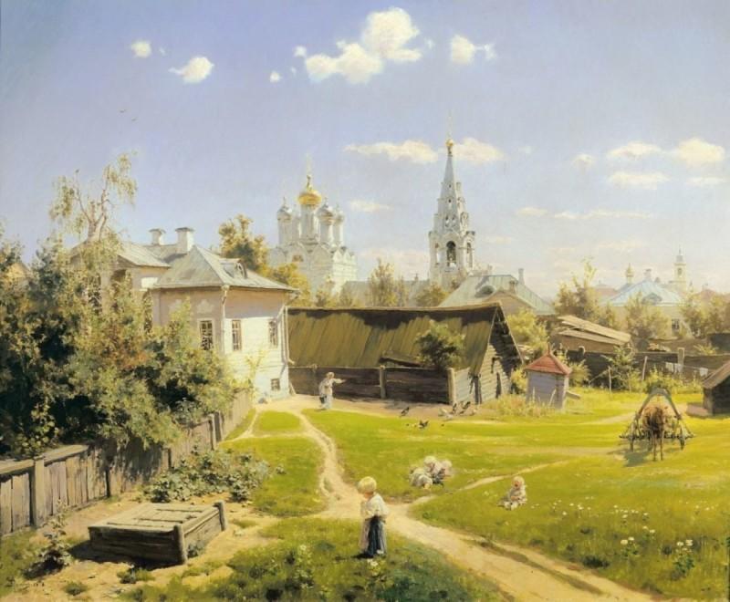 В. Д. Поленов «Московский дворик», 1878