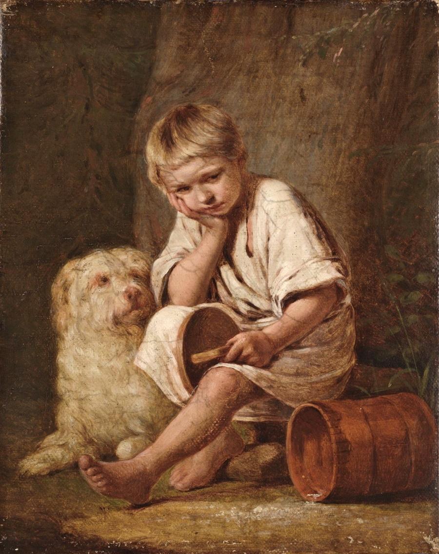 А. Г. Венецианов «Вот те и батькин обед!», 1824