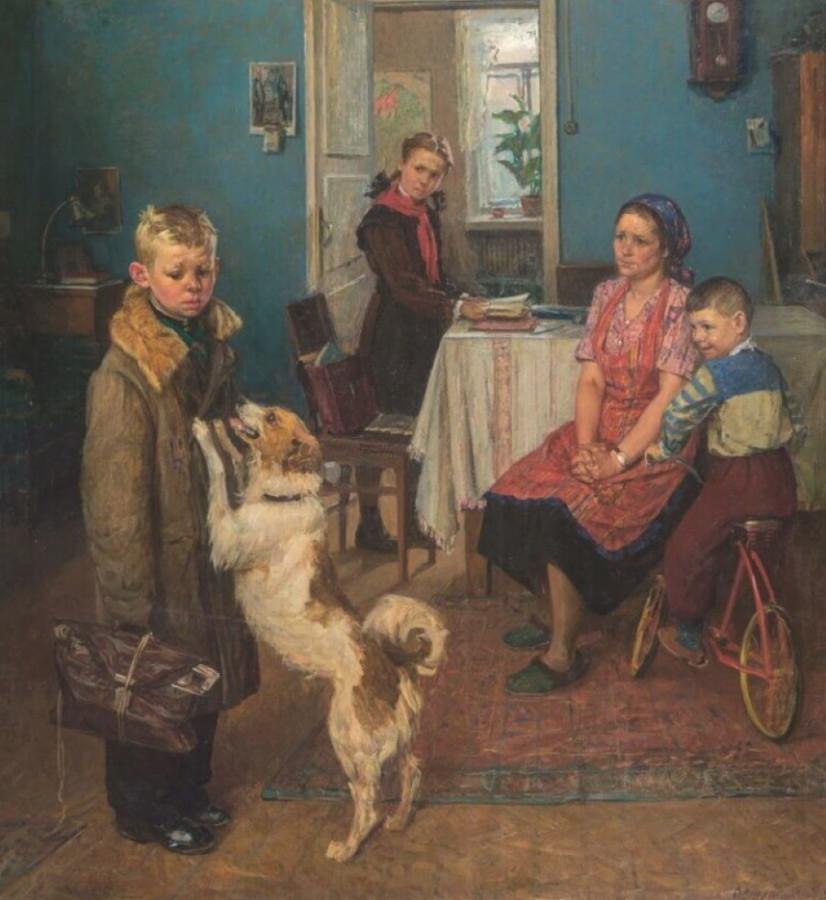 Ф.П. Решетников «Опять двойка», 1952