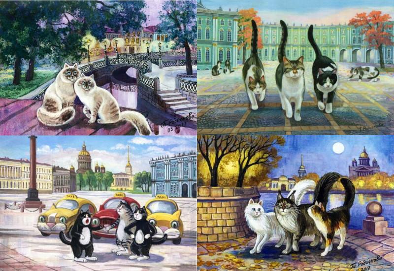 Петербургские коты художницы Татьяны Родионовой