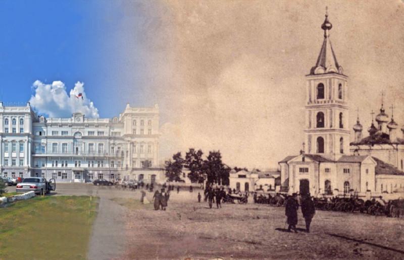 Соборная площадь и городская дума (и вчера, и сегодня)