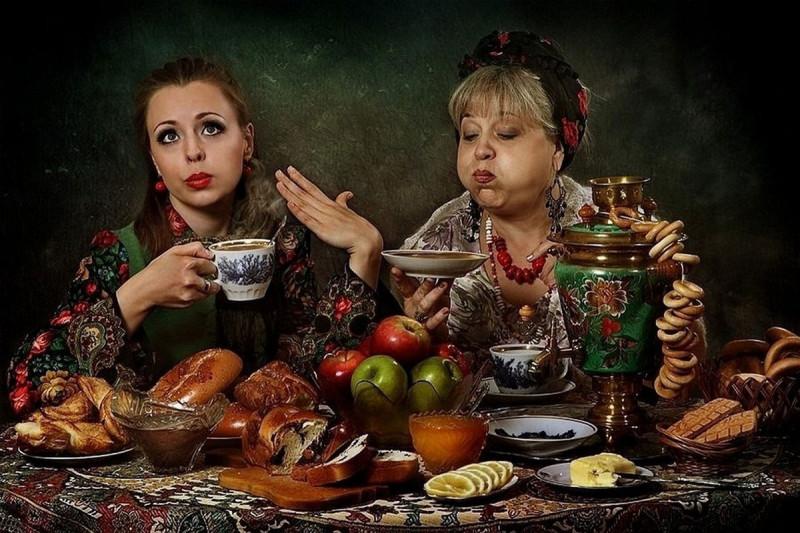Вечерком за чаем