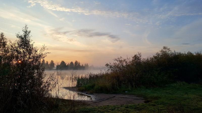 Рассвет над Камой сегодня, 2 июля 2021 года. Фото Надежды Буренковой