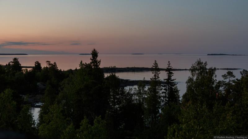 Валаам, вид на Ладожское озеро, 14 июня 2020г.