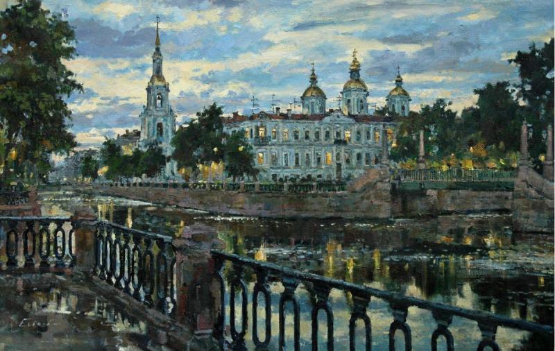 Белая ночь, Крюков канал. Худ. Павел Еськов