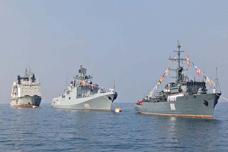 На рейде сирийского порта Тартус 26 июля 2020