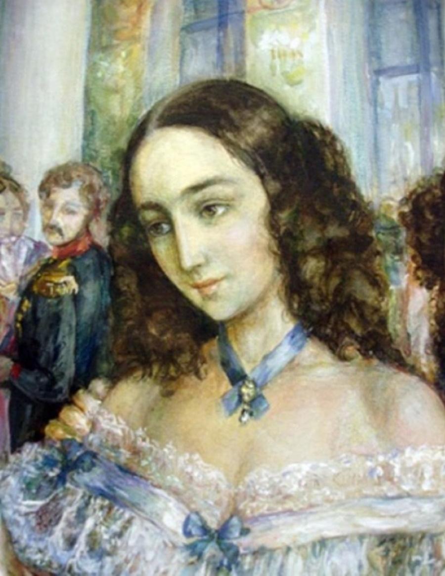 На мой взгляд, это лучший портрет Натальи Пушкиной
