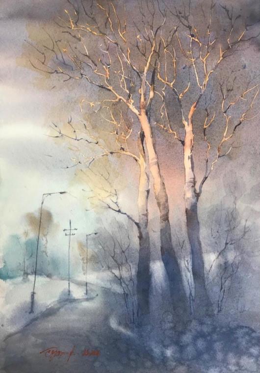 «Последний луч» рисунок Елены Прокопенковой (pelena1111)