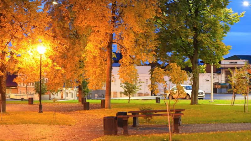 Городской рассвет 26 сентября 2021г., фото Владимира Урбановича