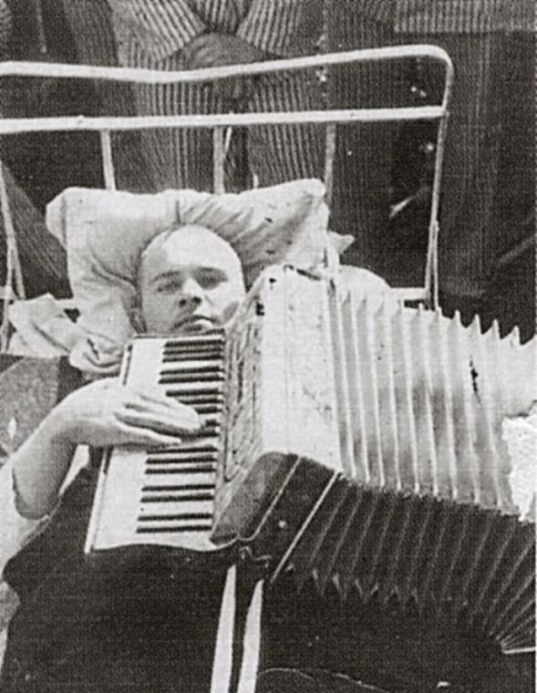 Евгений Родыгин в госпитале, 1945 год