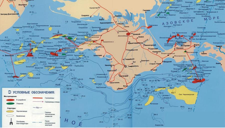 карта шельфа