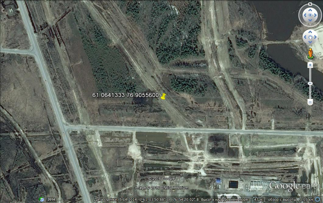 Снимок карты Гугл