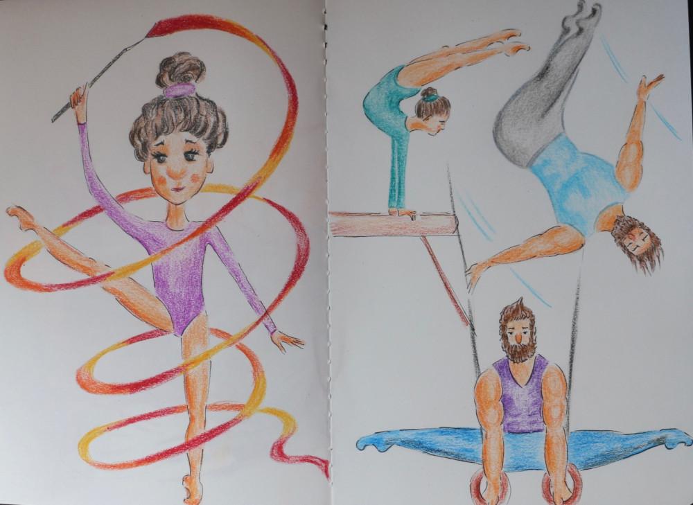 рисунок по гимнастике легко надо