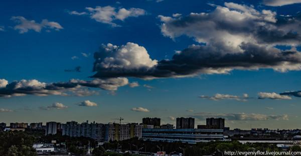 Приоритет Облаков расстановки . И закатные фотки на районе ...