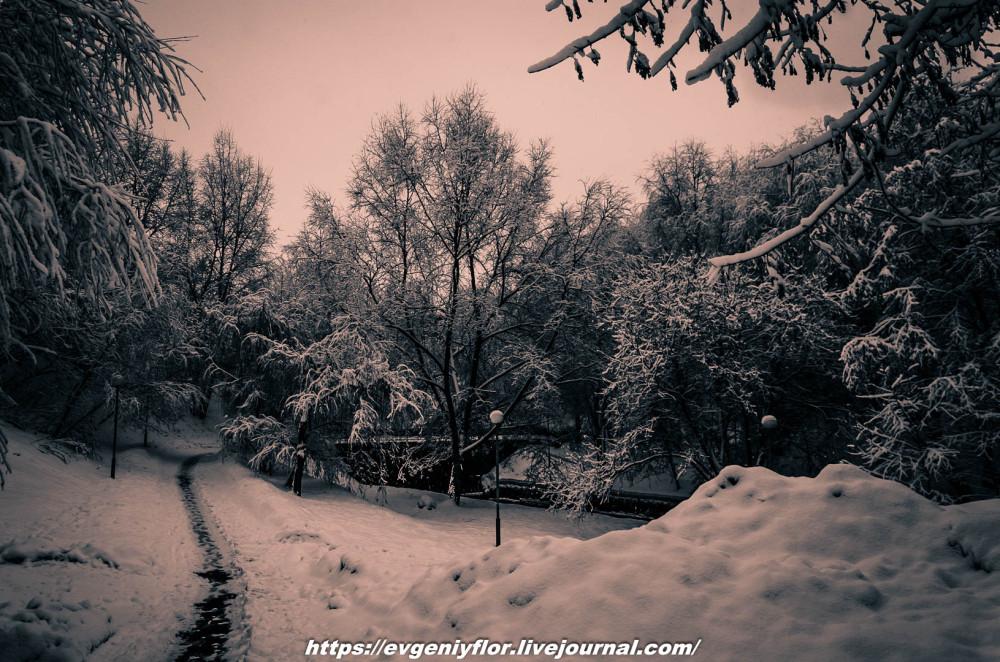 Лихоборка зимой или Жёлтая река Алтуфана...