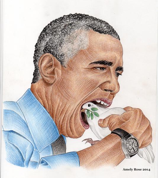 Barack_Obama_USA_Amely_Rose_2014_peace_Барак_Обама_США_Германия_война_Амели_Роза_мир_голубь_мира_dove_of_Peace_Frieden_Taube_Friedenstaube