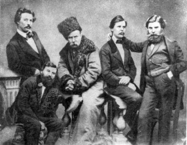 Тарас Шевченко среди друзей. Фото.