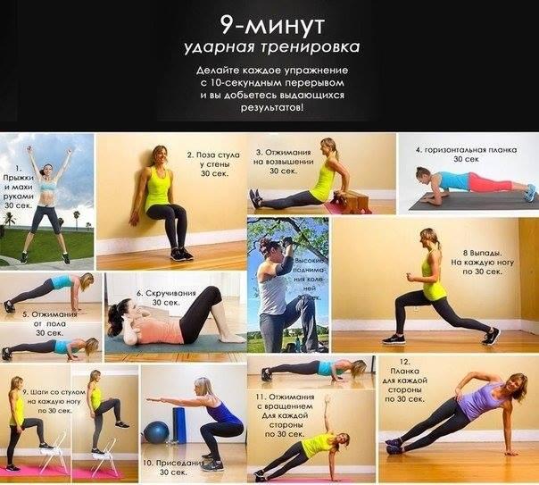 Фитнес упражнения для домашних условий