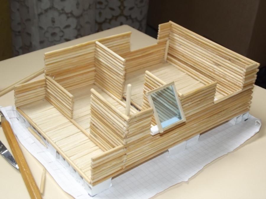 Как сделать домик из шпажек своими руками 37
