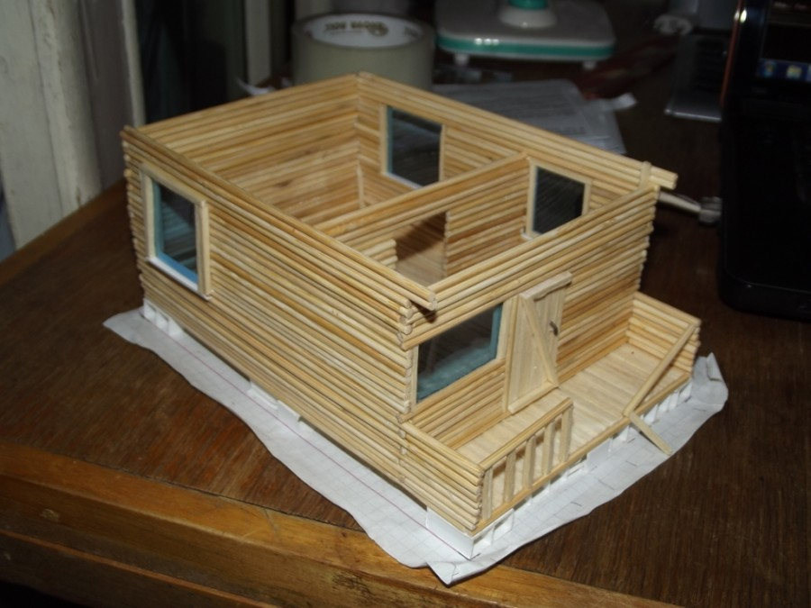 Как сделать домик из шпажек своими руками 19