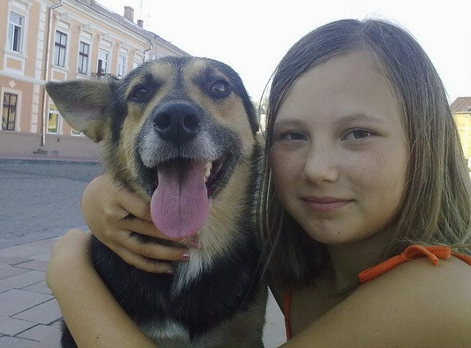 Алёна с собачкой