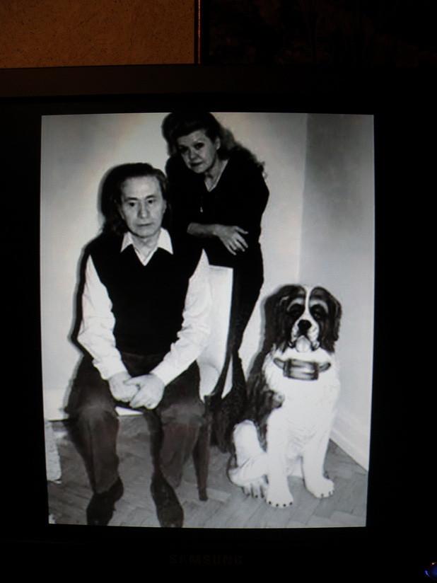 с Ириной и собакой