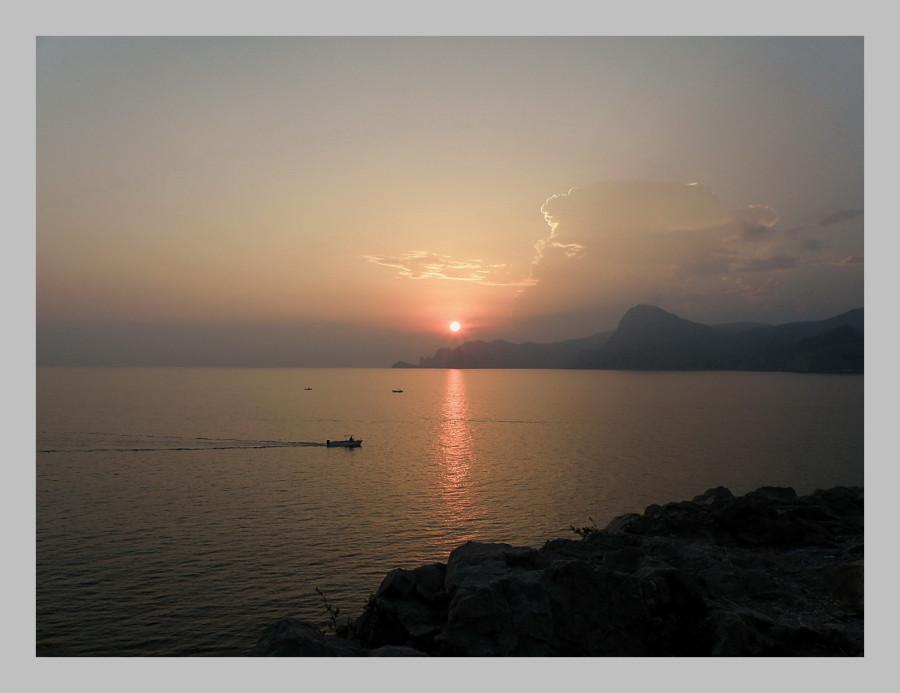 закат на Алчаке