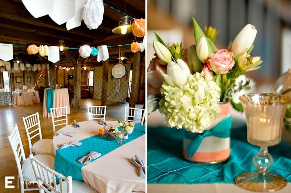 Chocolate And Teal Wedding Reception: Catie's Blog: Wanting For A Western Wedding Dress There