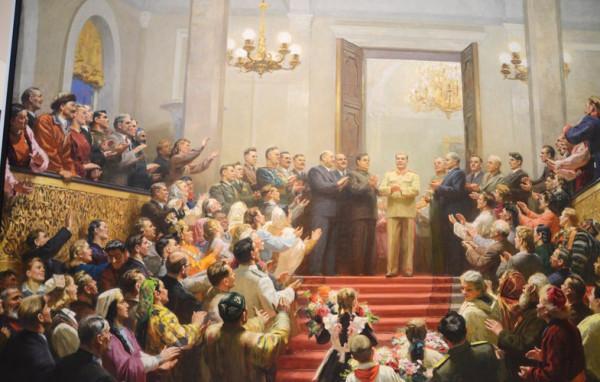 Ю.П.Кугач, В.К. Нечитайло, В.Г.Цыплаков. Великому Сталину слава. 1950 г.