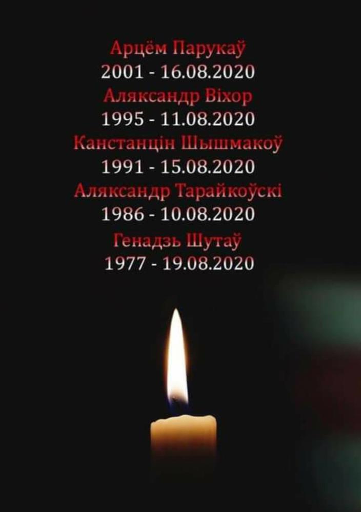 На сегодняшний день без вести пропавших более 80 человек, официально заявленных. Сколько их ещё на самом деле без вести пропавших, нам предстоит лишь узнать. Запомните эти имена Героев, они навсегда останутся в сердцах белорусов. Их именами будут названы улицы, скверы и площади в столице Беларуси.