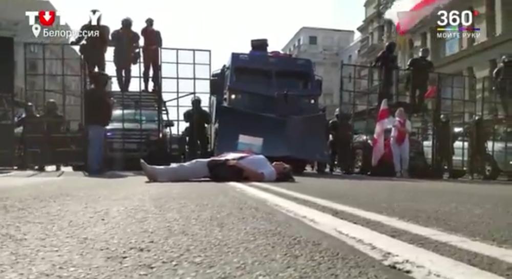 Так выглядят улицы мирного Минска.