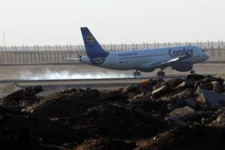 Аэропорт Хургады фото самолета на посадке