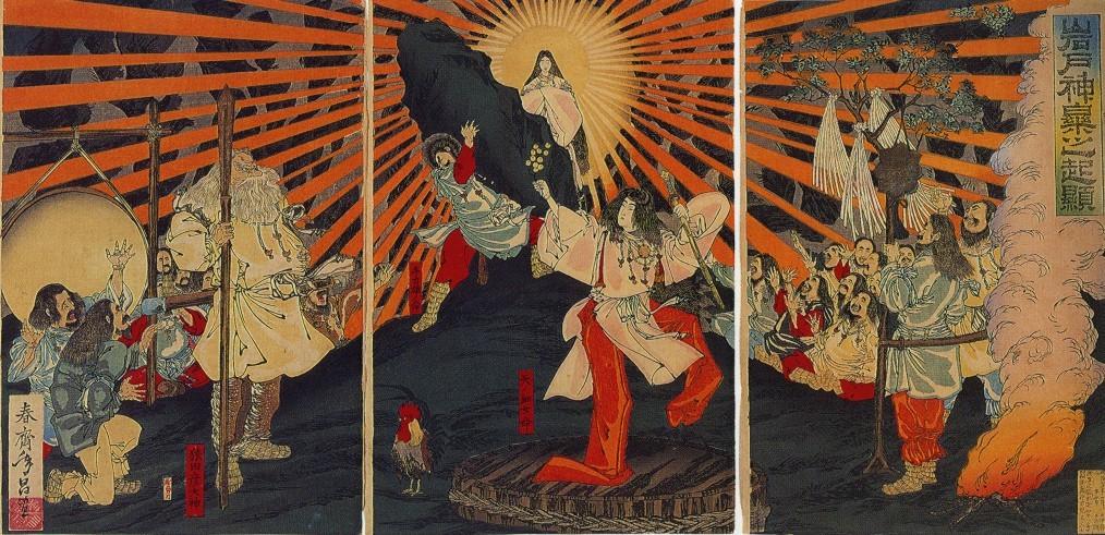 Богиня солнца Аматэрасу.