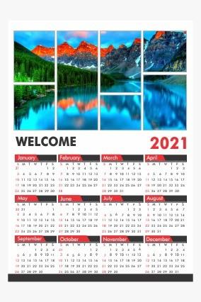 Customised New Year Calendar