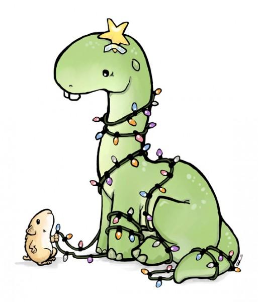 ursula vernon christmas dinosaur